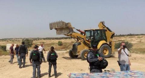 اسرائيل تهدم قرية العراقيب للمرة الـ 199 ويعتقل شابًا