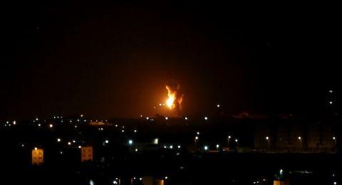الطيران الاسرائيلي يقصف اهدافا بقطاع غزة