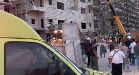 إصابة 5 عمال بجراح خطيرة لبعضهم اثر انهيار سقالة في بيت شيمش