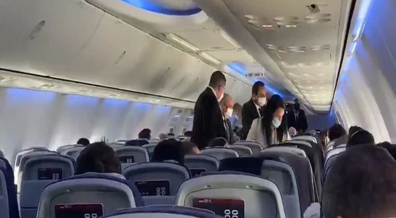 فيديو.. وفد أميركي إسرائيلي يتوجه للبحرين بأول رحلة مباشرة بين تل أبيب والمنامة