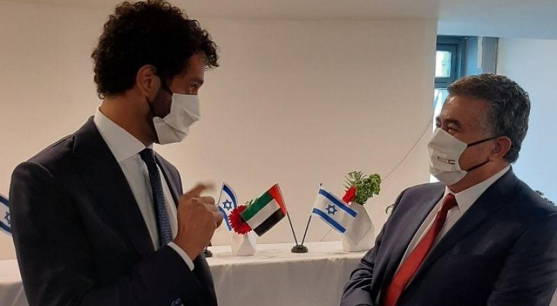 لقاء يجمع بين وزير الإقتصاد الإسرائيلي ونظيره الإماراتي