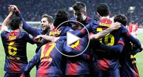 البرشلونة يفوز على موسكو (3-0) ويضمن تأهله للثمن نهائي