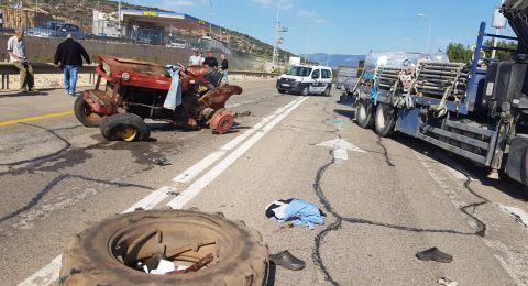 إصابة خطيرة لرجل بحادث طرق قرب عيلبون