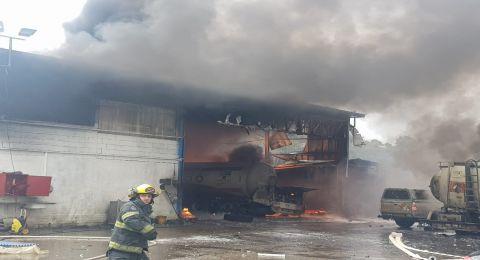 طمرة: إصابات بينها خطيرة بانفجار في المنطقة الصناعية