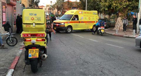 يافة الناصرة: اصابة راكب دراجة نارية بحالة خطرة اثر حادث
