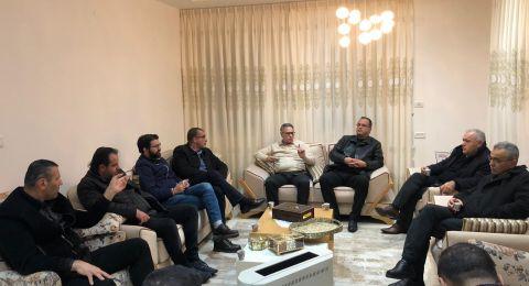 وفد التجمع الوطني الديمقراطي في زيارة تضامنية لرئيس مجلس يافة الناصرة السيّد ماهر خليلية
