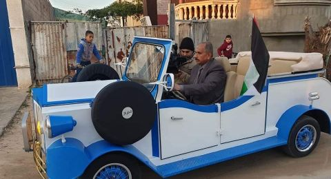حداد من غزة يعيد تشغيل مركبة من عام 1817