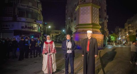 بلدية رام الله تضيئ فانوس رمضان
