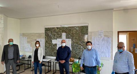 النائبان ايمن عودة وهبة يزبك بزيارة لمجلس كابول في ظل ازمة الكورونا