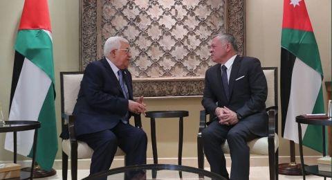 العاهل الأردني لعباس: فلسطين قضيتنا المركزية