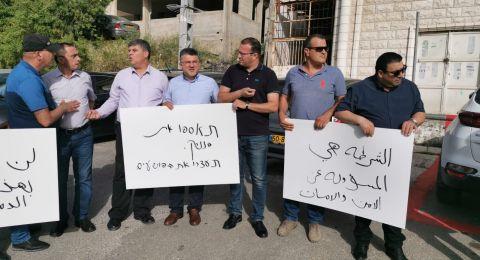 ام الفحم: احتجاج قبالة الشرطة ضد العنف والجريمة