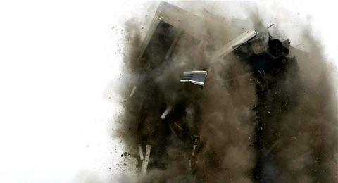 مبنى من 21 طابقاً يختفي في ثوانٍ