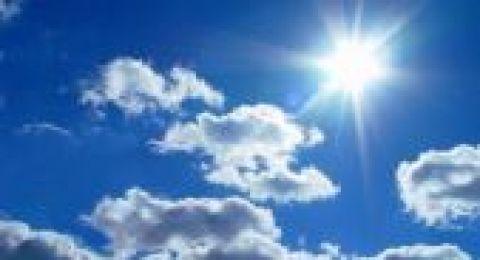 حالة الطقس:اجواء حارة وجافة