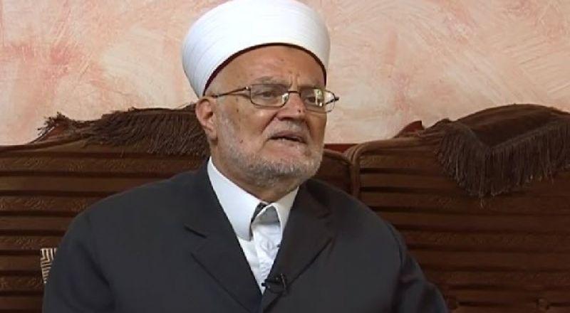 الشيخ عكرمة صبري يوجه نداءا لمعالجة ظاهرة العنف في المجتمع العربي