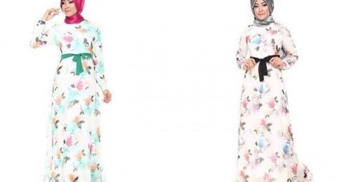 تألقي مع موضة الفساتين المطبعة بالزهور في رمضان 2016