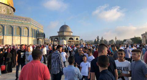 100 ألف مصل أدوا صلاة عيد الأضحى في الأقصى