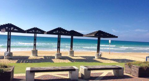 حيفا: وزارة الداخلية تعلن عن اغلاق شاطىء الطلاب لخطورته