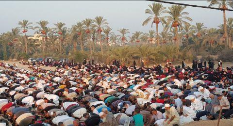 المئات من أهالي عكا في صلاة عيد الأضحى