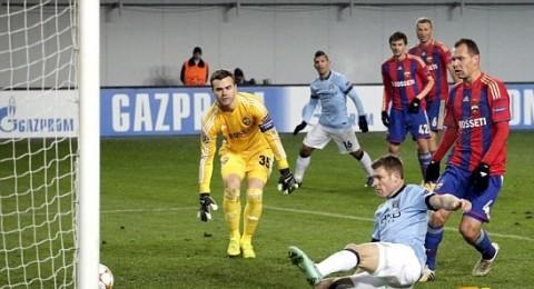 مانشستر سيتي يفشل في تحقيق الانتصار الاول بتعادله امام سيسكا موسكو