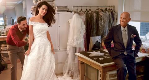 وفاة أوسكار دي لارنيتا مصمم فستان زفاف أمل علم الدين