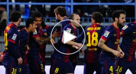برشلونة يهزم ملقا ويلاقي الريال في النصف نهائي