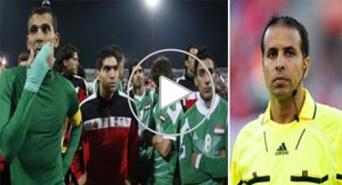 معلق عراقي يفقد اعصابه وينهال بالدعاء على حكم المباراة