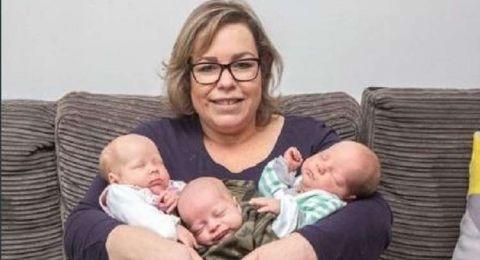 بريطانية تحمل مرتين خلال أسبوع وتلد 3 أطفال!