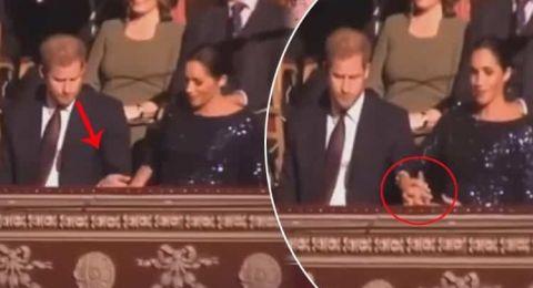الكاميرات تلتقط تصرف الأمير هاري مع زوجته ميغان ماركل دون أن ينتبه