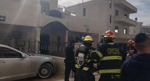 نشوب حريق في بلدة صور باهر وتخليص 10 مواطنين