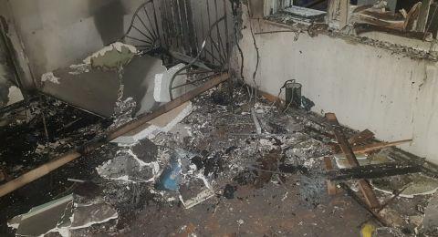 معلوت ترشيحا: حريق في شقة سكنية بسبب