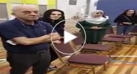 شاهد كيف استقبلت الجالية العربية والفلسطينية والد اية مصاروة!