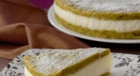كعكة بالسميد والفستق