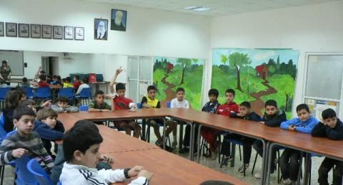 شفاعمرو:الرياضيون الصغار في المركز الثقافي(مرشان) ضد العنف