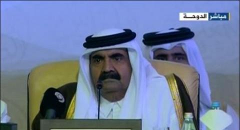 امير قطر يطلب من إسرائيل