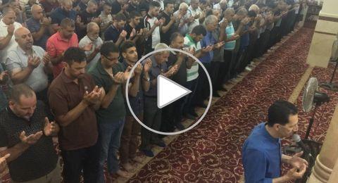 أجواء روحانية وخشوع بالتراويح بجامع عمر المختار يافة الناصرة
