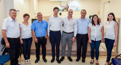 مدير عام بنك لئومي يقوم بجولة في فروع المجتمع العربي في الشمال ويلتقي رؤساء بلديات ورجال أعمال رائدين