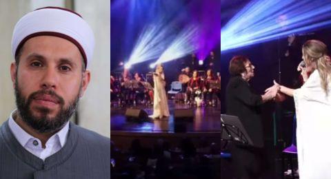 ضجة واسعة بعد منشور من الشيخ مشهور فواز ضد حفل الفنانة دلال أبو آمنة في أم الفحم