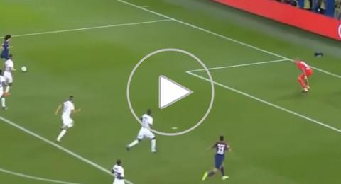 هدف رائع بكعب نجم باريس سان جيرمان