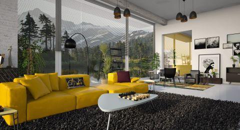 ألوان الديكور: الأصفر في المنزل المعاصر