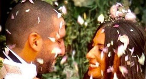 بعد المدني.. هبة طوجي تتزوج كنسياً في فرنسا وترقص كالغجرية (فيديو)
