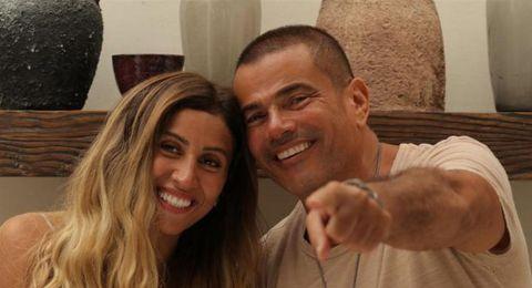 عمرو دياب سيعلن عن مفاجأة تخص دينا الشربيني يوم 11 تشرين الاول.. هل سيتزوجا؟