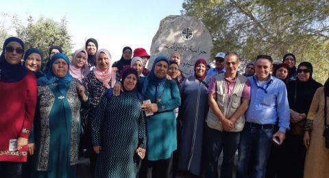 متقاعدو المركز الجماهيري دبورية في رحلة الى البحر الميت الجانب الاردني