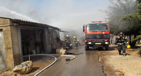 عكا: اندلاع حريق في مبنى الجامعة المفتوحة