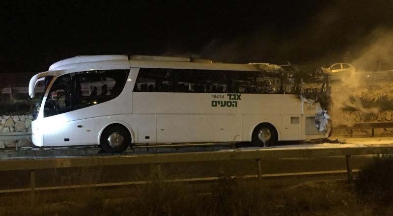 احتراق حافلة و-6 اصابات طفيفة بجانب شفاعمرو