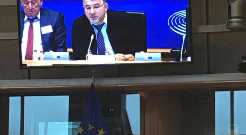 النائب يوسف جبارين يطرح قضايا الاقلية العربية في جلسة خاصة في البرلمان الأوروبي