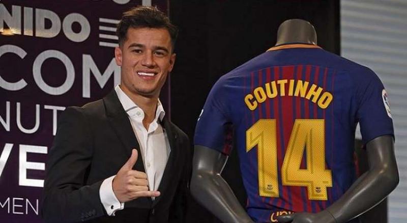 اللاعب كوتينيو وسر رقم 7 في برشلونة!