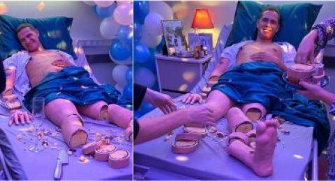 اغرب حفلة .. اقامت حفلة طلاق والكعكة على شكل طليقها !!