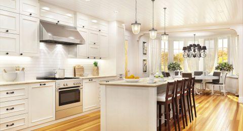 أفكار لدمج غرفة المعيشة والمطبخ