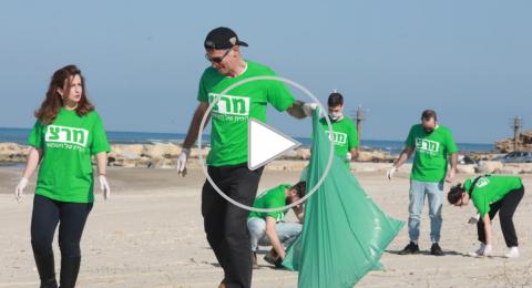 غيداء ريناوي زعبي وكوادر ميرتس في حملة تنظيف لشاطئ جسر الزرقاء