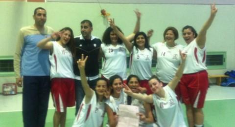 نساء سبورتاج شفاعمرو بطلات منطقة حيفا في كرة السلة